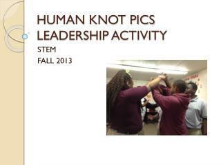 HUMAN KNOT PICS LEADERSHIP ACTIVITY