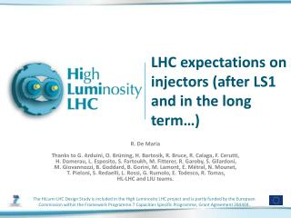 LHC expectations on injectors (after LS1 and in the long term…)