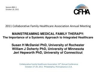 Collaborative Family Healthcare Association 13 th  Annual Conference