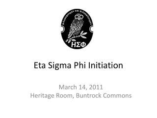 Eta Sigma Phi Initiation