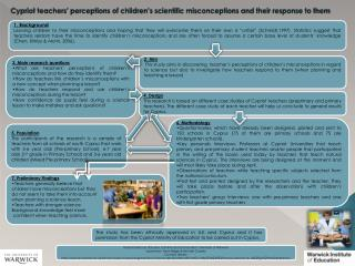 Cypriot teachers'  perceptions of children's scientific misconceptions and their response to them