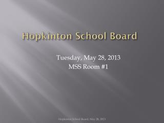 Hopkinton School Board