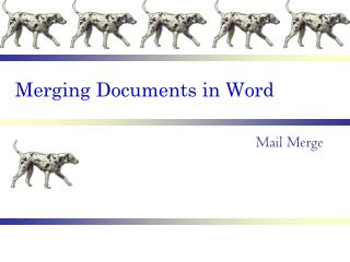 Merging Documents in Word