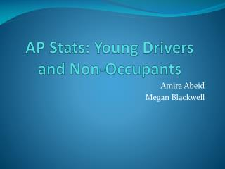AP Stats: Young Drivers and Non-Occupants