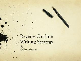 Reverse Outline  Writing Strategy