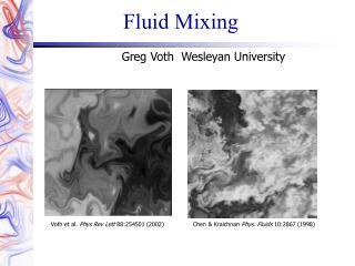 Fluid Mixing