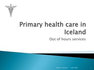 Primary health care in Iceland
