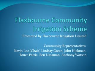 Flaxbourne  Community Irrigation Scheme