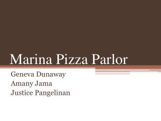Marina Pizza Parlor