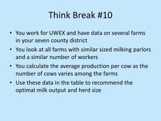 Think Break #10
