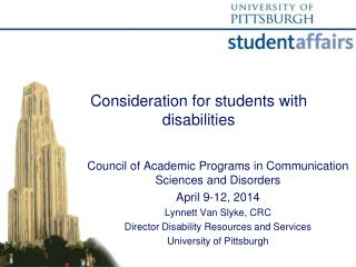Consideration for students with disabilities