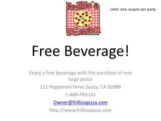 Free Beverage!
