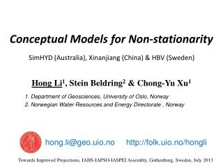 Conceptual Models for Non-stationarity