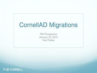CornellAD  Migrations