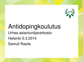 Antidopingkoulutus