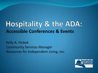 Hospitality & the ADA: