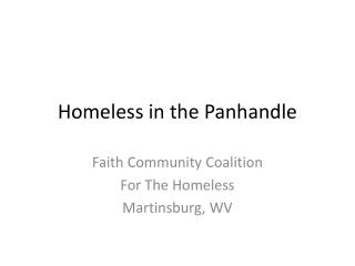 Homeless in the Panhandle