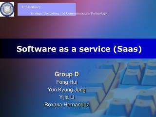 Software as a service Saas