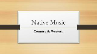 Native Music