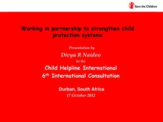 Working in partnership to strengthen child protection systems