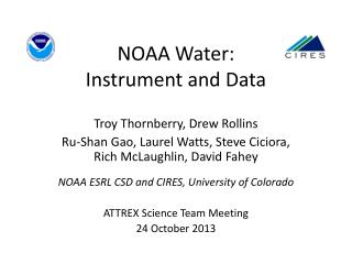NOAA Water: Instrument and Data
