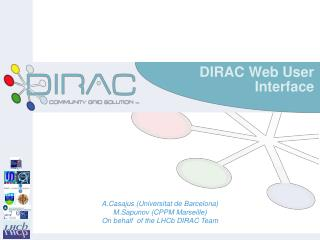 DIRAC Web User Interface