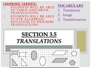SECTION 3.5 Translations