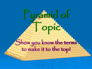 Pyramid of Topic