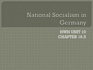 National Socialism in Germany