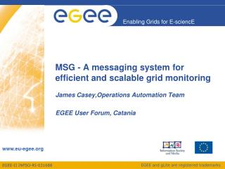 MSG - A messaging system for efficient and scalable grid monitoring