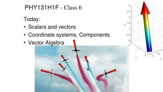 PHY131H1F - Class  6