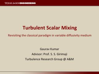 Turbulent Scalar Mixing Revisiting the classical paradigm in variable diffusivity medium