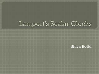 Lamport's Scalar Clocks