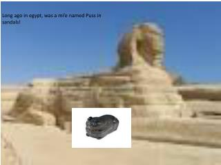 Long ago in egypt, was a mi'e named Puss in sandals!