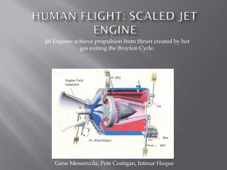 Human flight:  Scaled Jet engine
