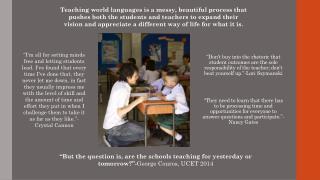Nathan Kunkel Teaching for Learning