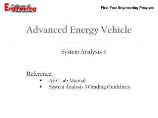 Advanced Energy Vehicle