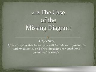 4.2 The Case of the  Missing Diagram