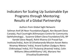 Authors from Global Sight Network: