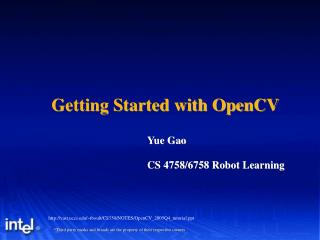 Getting Started with OpenCV