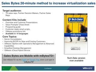 Sales Bytes:30-minute method to increase virtualization sales