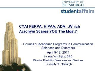 CYA! FERPA, HIPAA, ADA…Which Acronym Scares YOU The Most?