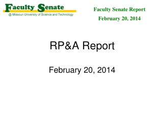 RP&A Report February 20, 2014
