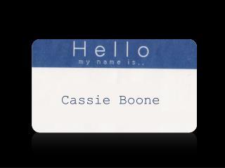 Cassie Boone