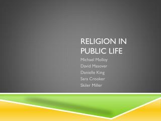 Religion In Public Life