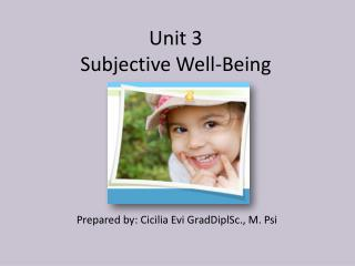 Unit 3 Subjective Well-Being