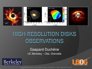 High-resolution disks Observations