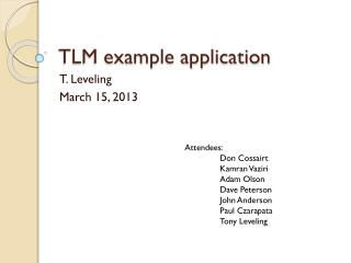 TLM example application