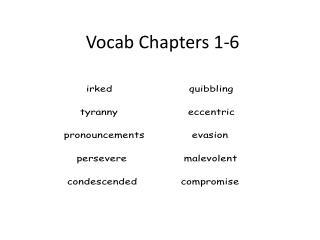 Vocab Chapters 1-6