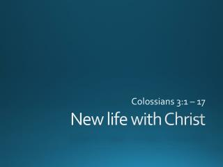 New life with Christ